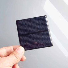2PCS X 0.6W 5.5V 90mA 0.5w 5V polycrystalline solar Panel small module solar cell battery charger