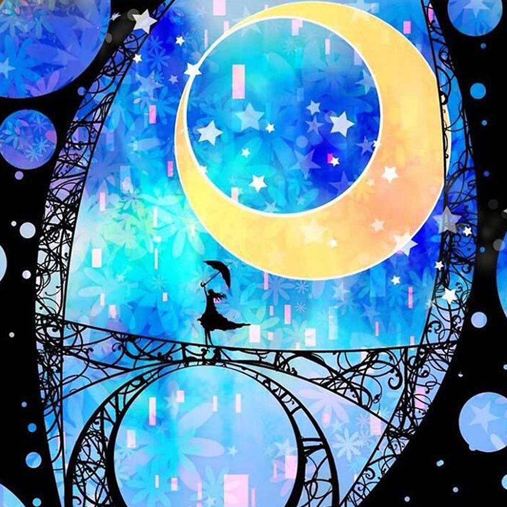 Diamond Painting Moonlight girl full drill Mosaic DIY Diamond Painting Cross Stitch Embroidery Home Decorative Craft