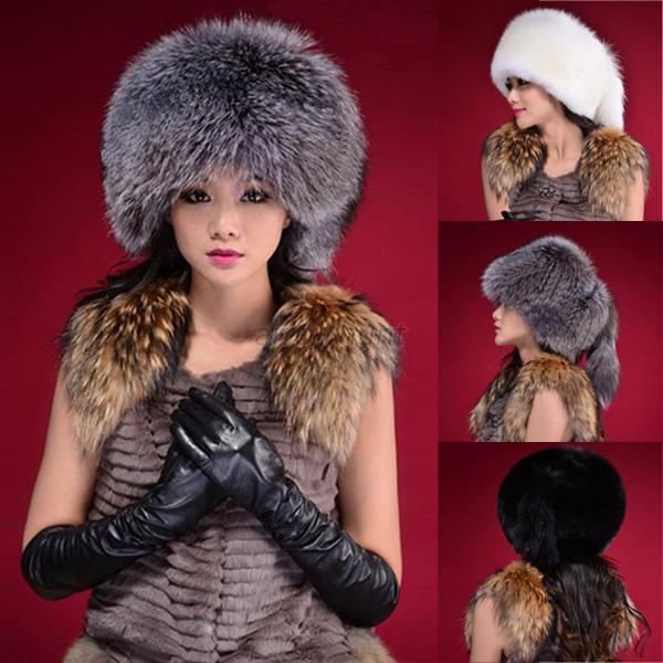 Women Lady Warm Winter Tail Beanie Beret Cap Womens Faux Fur Ear Earflap Hat