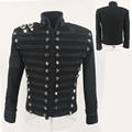 Rare MJ Michael Jackson England Style Retro Black Militray Jacket Handmade Punk Men Outerwear Tailor Made High Quality