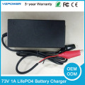 AC - DC Smart 20S 73V 1A Electric LifePO4 Battery Charger