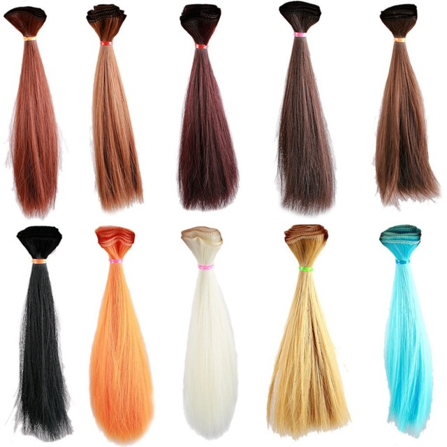 Wamami 15cm Straight Hair Extensiondiy Hair Wighair Piece For Bjd