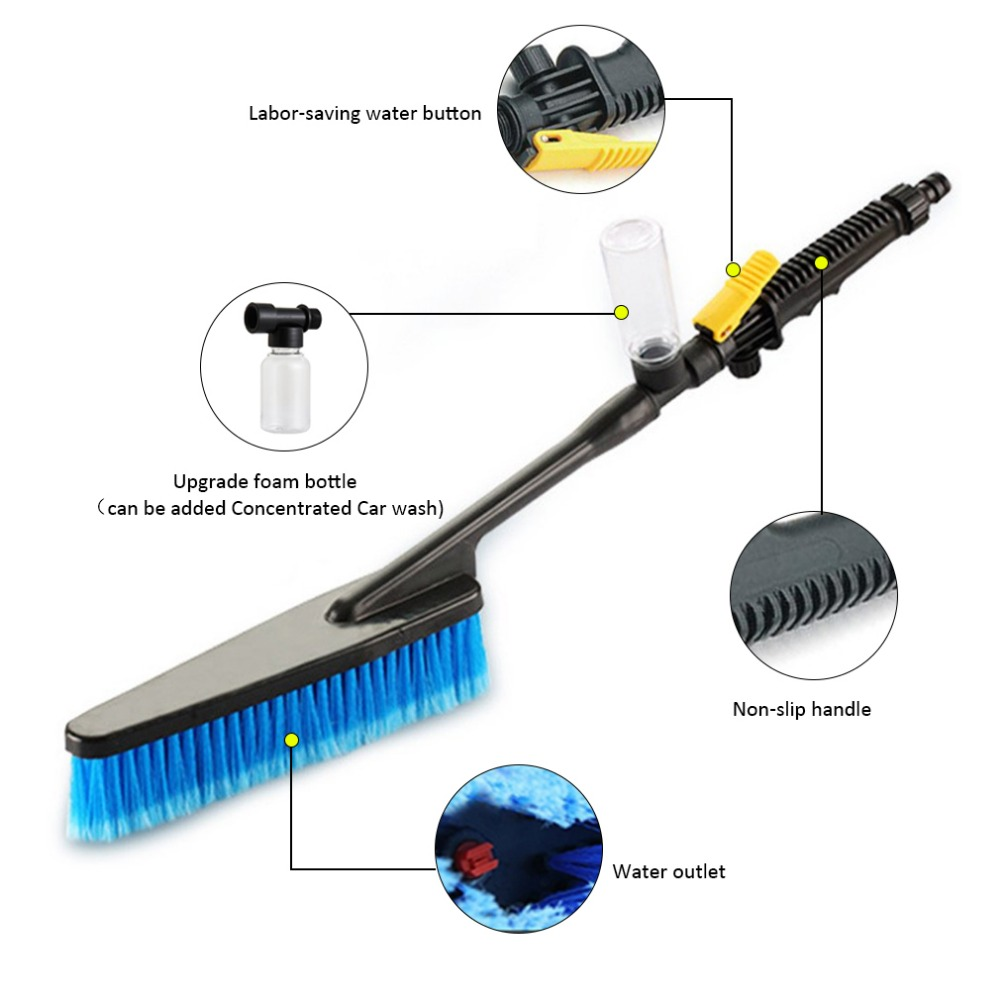 Car Wash Brush >> Car Wash Brush Auto Exterior Retractable Long Handle Water Flow
