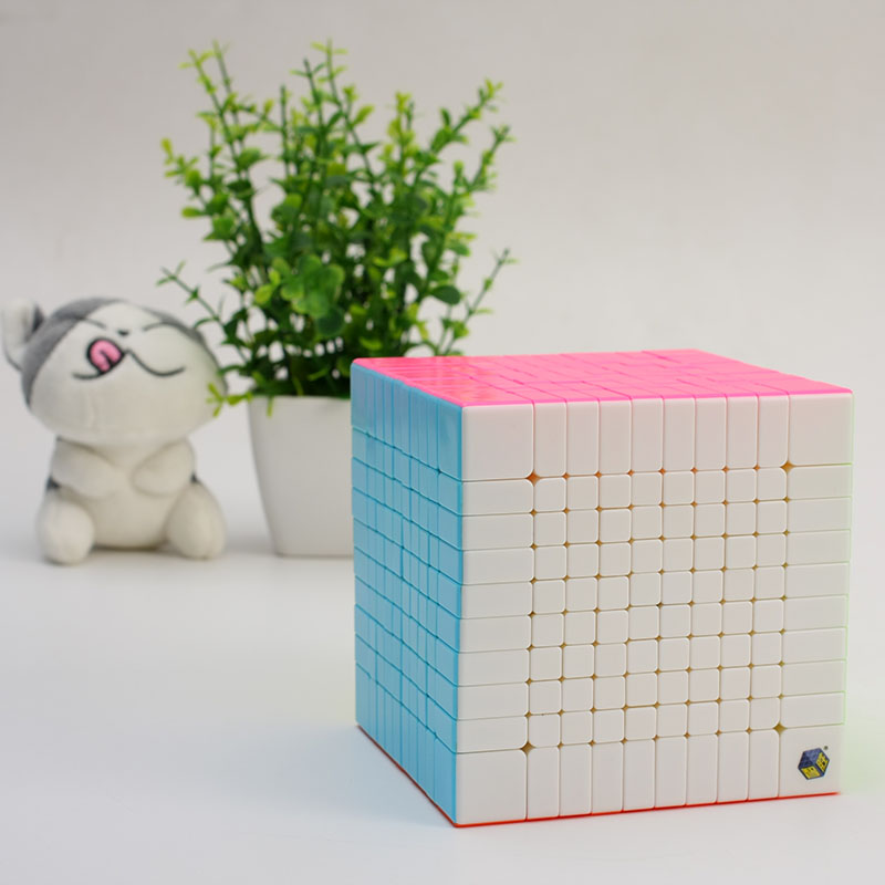 New Yuxin Huanglong 10x10x10 Cube Zhisheng Speed Cube Puzzle Twist Spring Cubo Magico Learning Education Toys Drop Ship