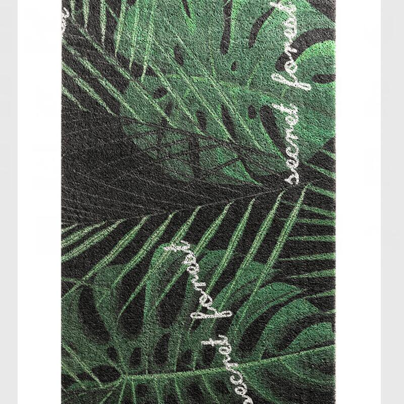 Vert Monstera Deliciosa motif tapis d'entrée tapis salon tapis décor maison paillassons antidérapant couloir tapis de sol tapis