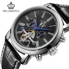 montres noir mécanique cuir