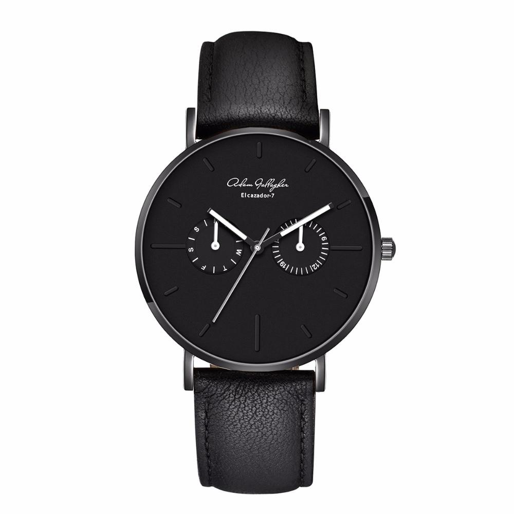 Adam Gallagher Top Luxury Brand Quartz watch men Casual Japan Wrist Watch stainless steel Mesh strap ultra thin clock men watch