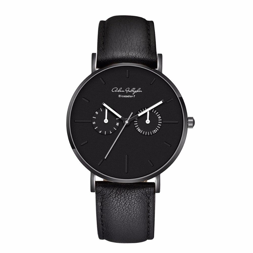 Adam Gallagher Top Marque De Luxe Quartz montre hommes Casual Japon Montre-bracelet en acier inoxydable bracelet En Maille ultra mince horloge hommes montre