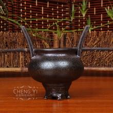Boutique luxury ceramic incense burners rust glaze retro inserted burner traditional furniture of Taoism