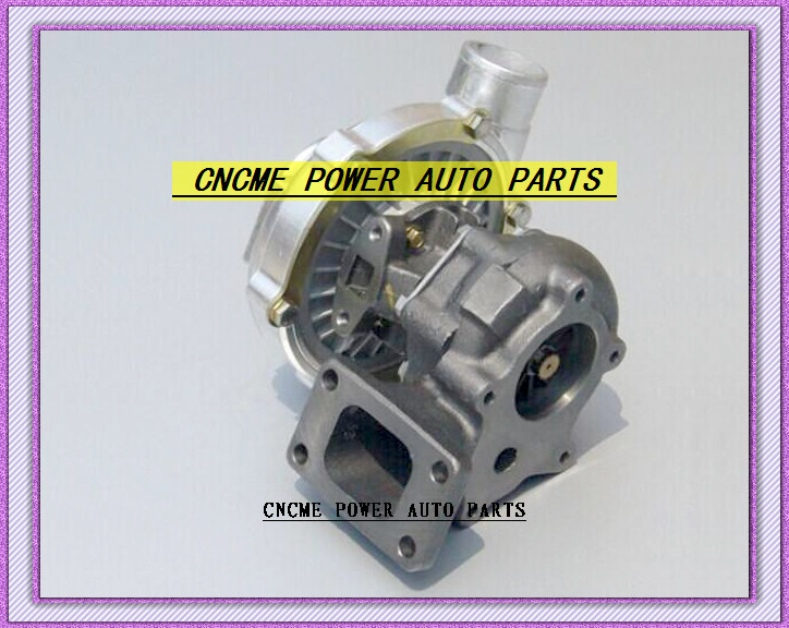 TURBO T3 T4 T3T4 TO4E 5 bolt AR .63 comp AR .50 no wastegate water cooled Turbocharger For Universal Cars 170-155kW- (1)