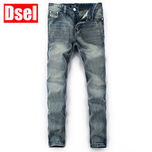 DSEL brand men cotton jeans fashion jeans cool good quality new jeans men simple and stylish casual Men's jeans free shipping