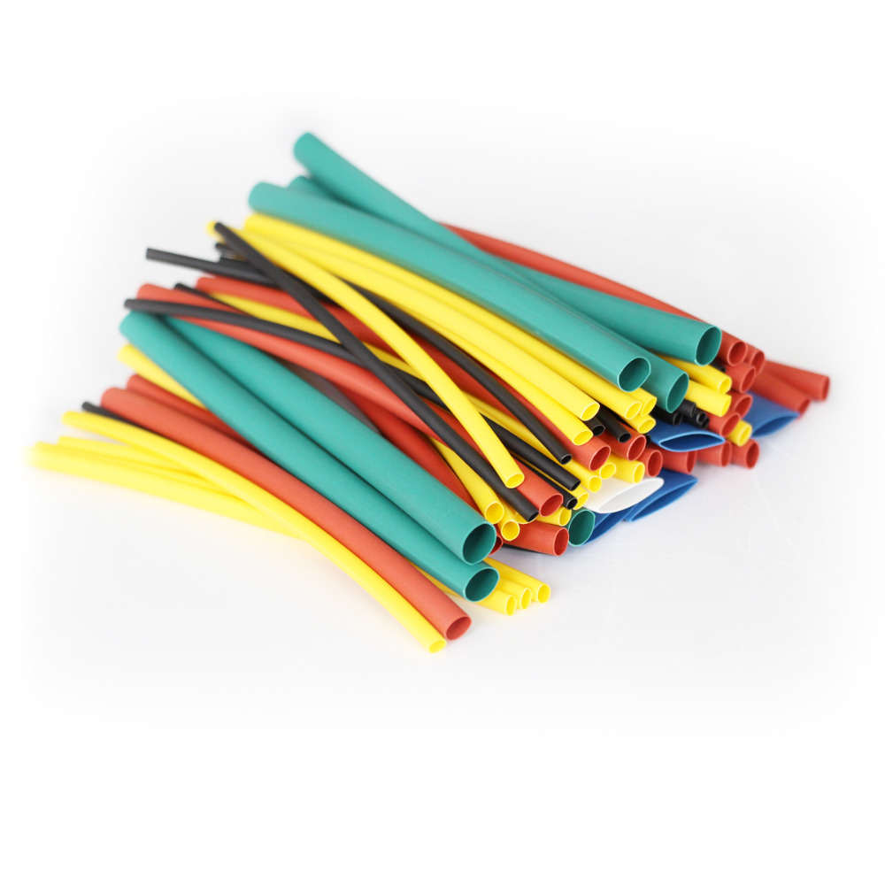 100pcs Assortment Polyolefin 21 Heat Shrink Tube Sleeving Wrap Wire Wiring Cable Kit 100m Mixed Color In Sleeves From Home Improvement On
