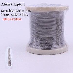 Image 1 - XFKM 316L 100m(300Feet)/Rulo Alien sigortalı Clapton kaplan tel elektronik sigara rda ısıtma bobini direnci DIY Atomizer