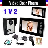 Wireless Video Intercom System Video Door Phone 7 Doorphone Intercom Doorbell Video Door Bell Wireless Doorbell 2 Monitor