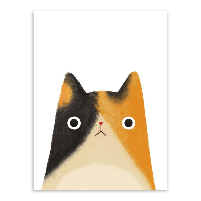 Modern Cat Wall Art Posters