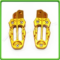 CNC Footrests For 2013 2014 2015 Honda Grom MSX 125 13 14 15 foot pegs for OEM mount GOLD color