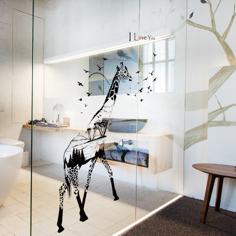 New Arrival Wall Stickers Giraffes Pattern Removable Art Decals For Living Room Bedroom Sofa/TV Background Home Decoration B