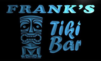 x0031-tm Franks Tiki Bar Custom Personalized Name Neon Sign Wholesale Dropshipping On/Off Switch 7 Colors DHL