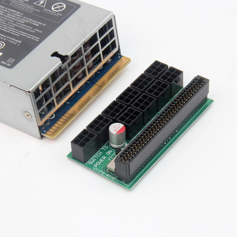 Server Power 6Pin Module Breakout Board Ethereum Miner Power Supply Conversion Board 10 sets 6pin Output Free Shipping (4pcs)