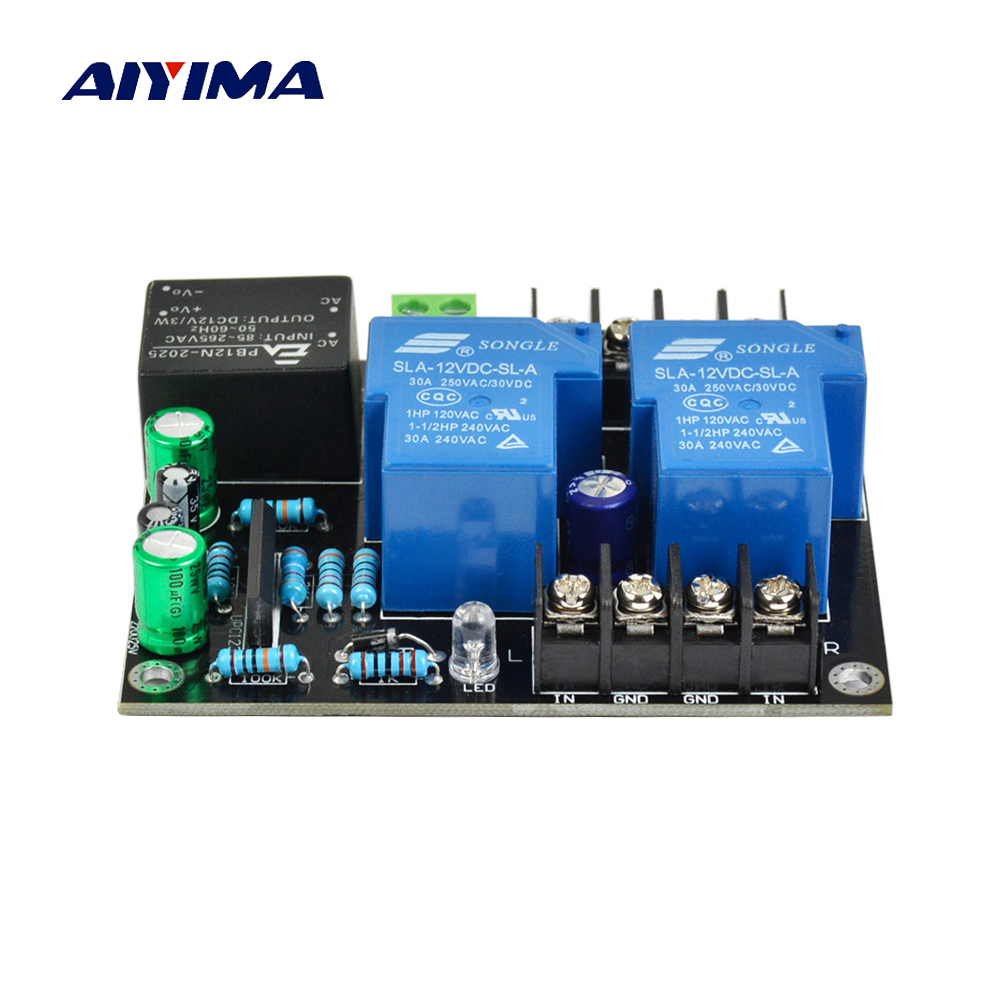 AIYIMA Audio Speakers Protection Board UPC1237 2.0 Reliable Performance DIY For HIFI Power Amplifier Home Theater Sound System aiyima upc1237 speaker protection board dual channel power on delay dc protect module 11 26v for audio amplifier amp diy