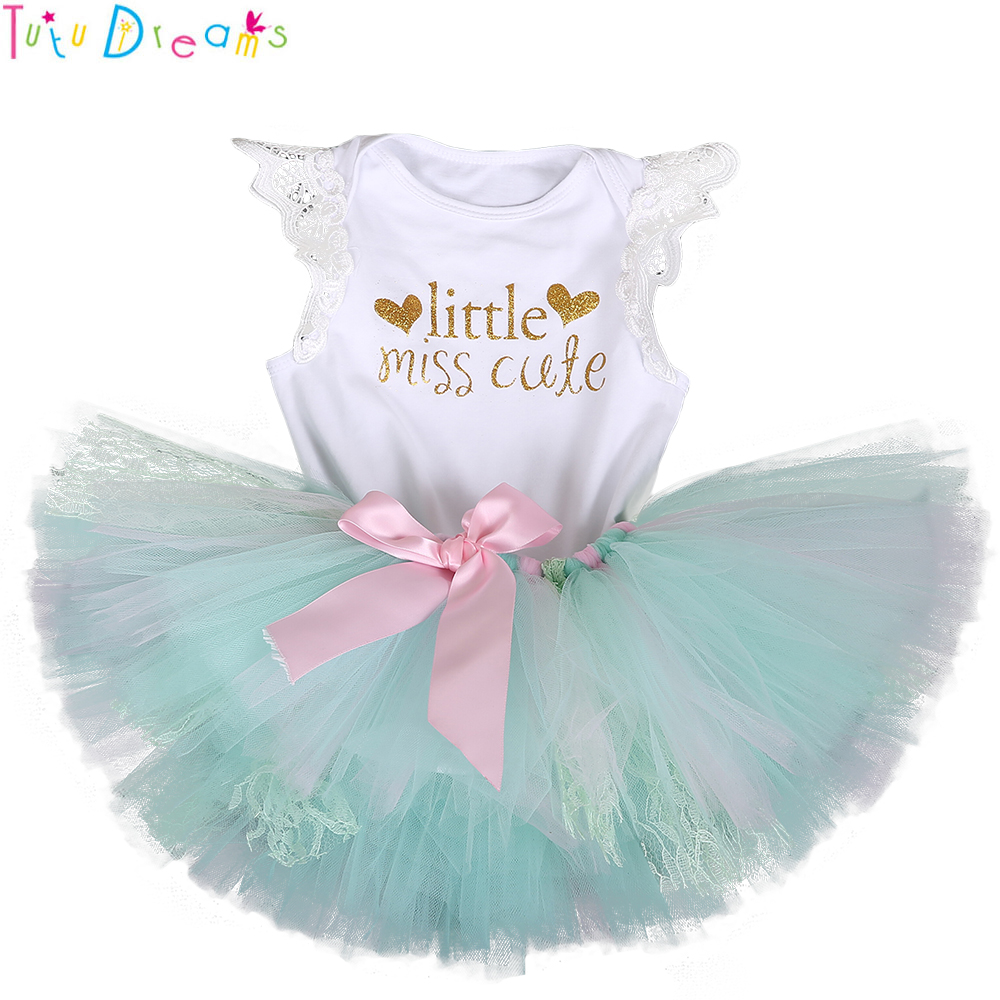 2pcs Newborn Baby Girls  bodysuit /& Headwear tutu Party dress outfits Supergirl