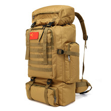 70L Waterproof Molle Tactical Backpack Military Army Hiking Camping Travel Rucksack Outdoor Sports Climbing Bag