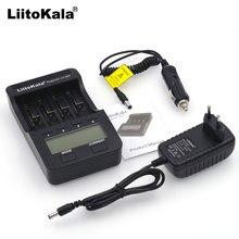Liitokala lcd lii-100 500, 3.7v 18650 18350 18500 16340 17500 25500 10440 14500 26650 1.2v aa carregador de bateria de lítio aaa nimh