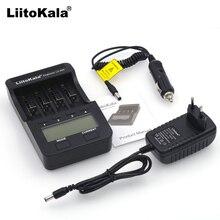 Liitokala lcd lii 100 500, 3.7v 18650 18350 18500 16340 17500 25500 10440 14500 26650 1.2v aa carregador de bateria de lítio aaa nimh