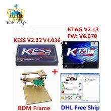 Неограниченные Жетоны! KESS V2 OBD2 Менеджер Тюнинг Комплект KESS V4.036 V2.32 + KTAG V2.13 FW V6.070 К-TAG К TAG ECU Программист + BDM Рамка