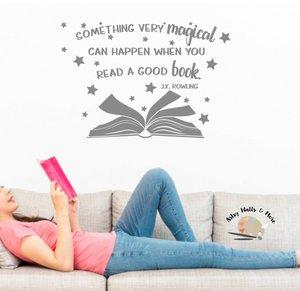 Image 1 - J.K.Rowling inspirational slogan vinyl wall stickers school library classroom study home decoration art wall stickers YD13
