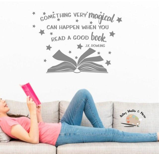 J.K.Rowling inspirational slogan vinyl wall stickers school library classroom study home decoration art wall stickers YD13