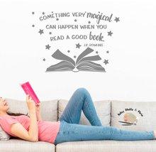 Pegatinas de vinilo con lema inspirador de J. K. Rowling, pegatinas de pared para escuela, biblioteca, aula, estudio, decoración del hogar, pegatinas de pared artística YD13