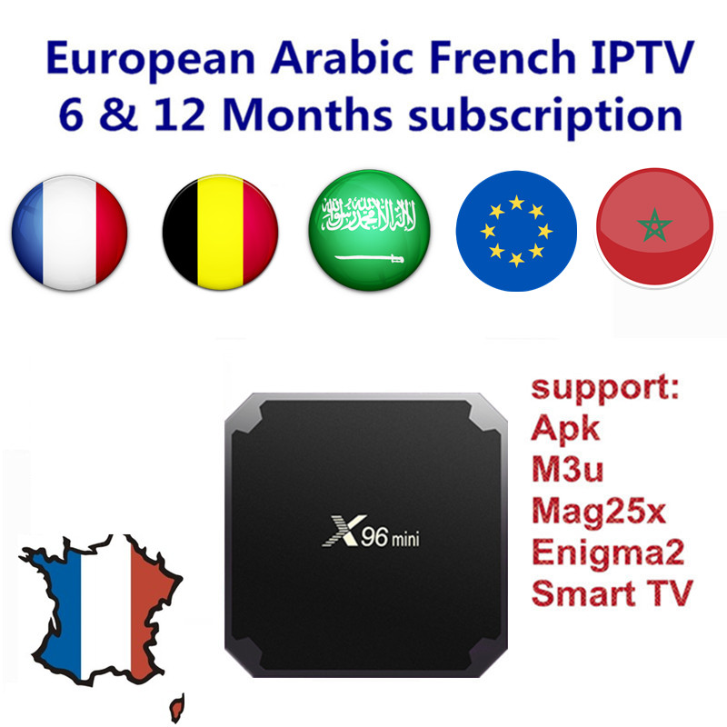 Android TV Box with 1000+ Channels European Europe Arabic French IPTV Code Belgium Live TV Smart TV box for France Belgian Arab