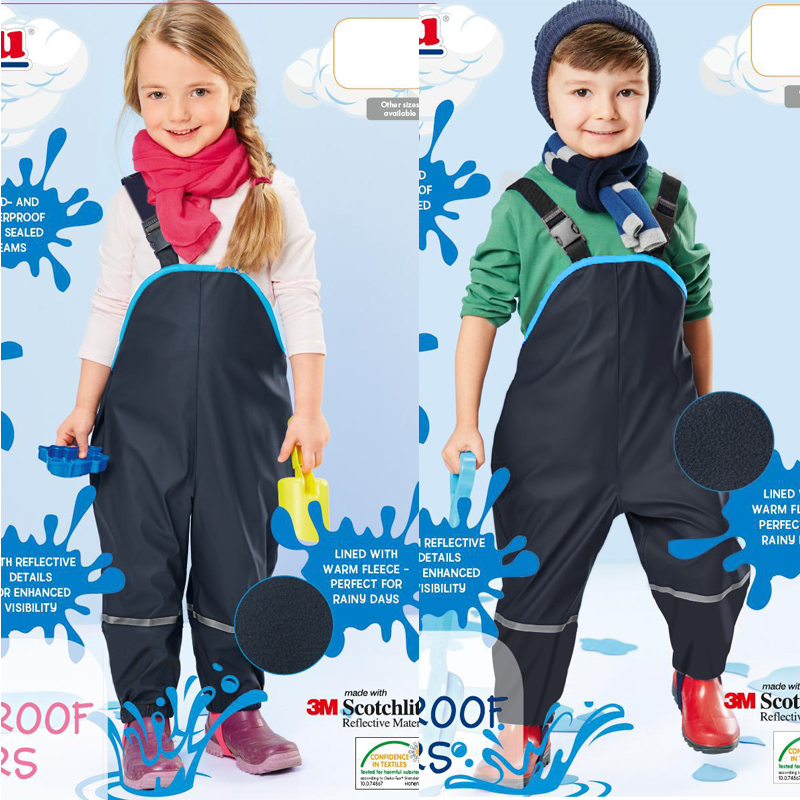 topolino children rain pants waterproof trousers padded boys windproof outdoor girls piece skiing overalls skisuit free shipping