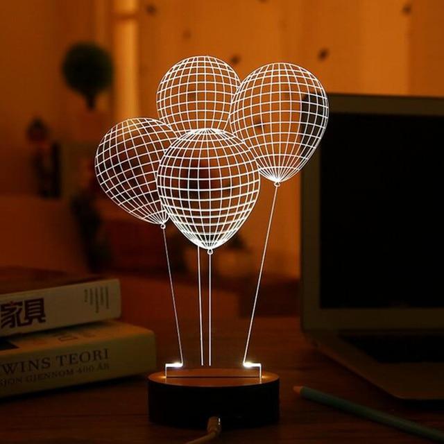 Creative Micro USB 3D LED Table Lamp Night Lamps Cartoon LED Night Light  Creative Decoration Table