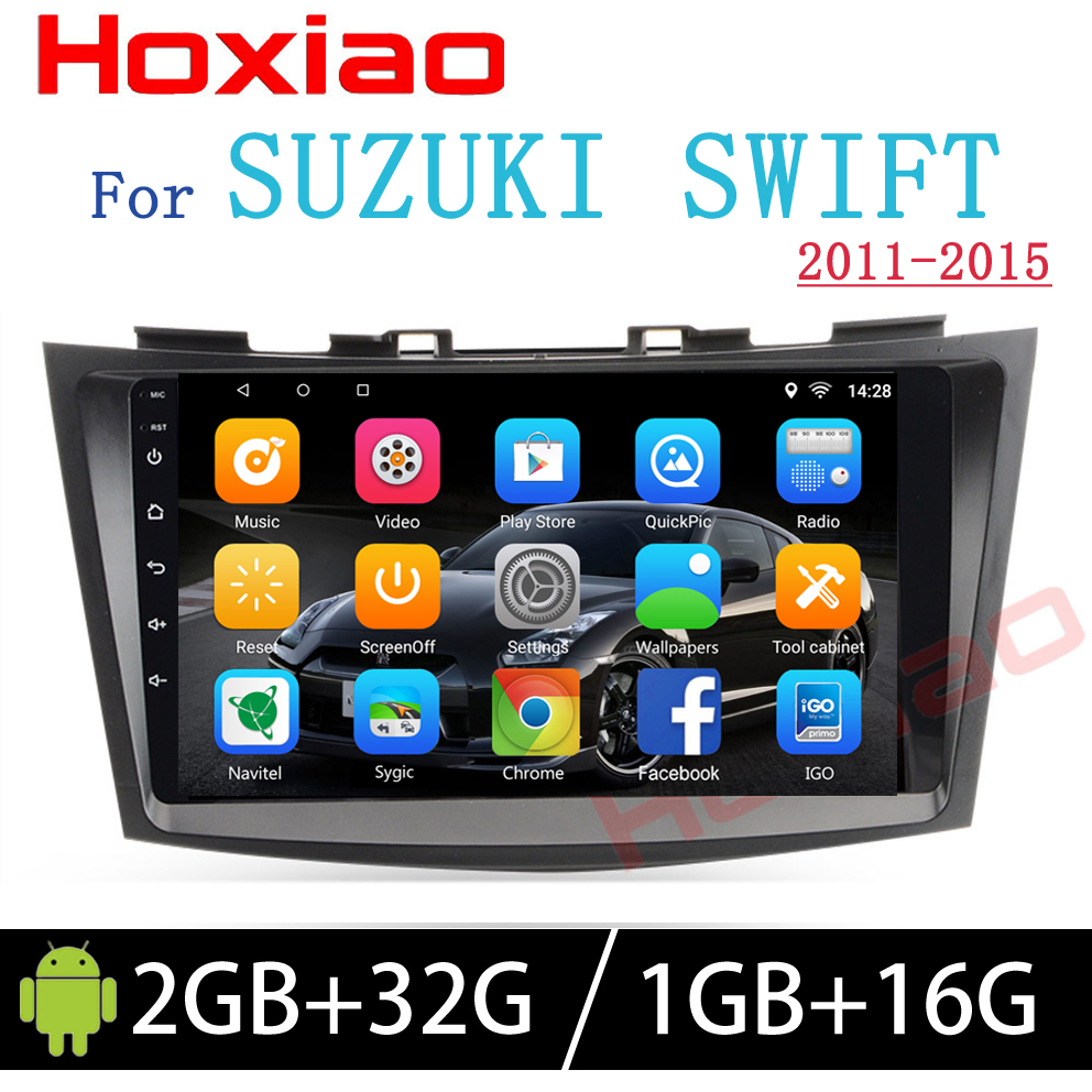 Hoxiao Android 6 0 for SUZUKI SWIFT 2011 2015 GPS HD multimedia player map navigation WIFI