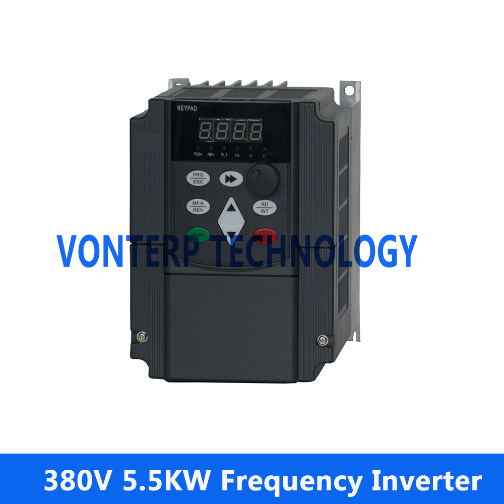 цена на VF control ac drive /frequency inverter three phase 380v 5.5KW 3 Phase 50hz/60hz