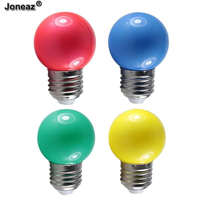 5 Pcs Bombilla Led  Bulb Light E27 B22 Mini Colorful G45 Globe Bulbs 110v 220v Dc 12V 0.5W Lamp Ambient Decoration Night Light