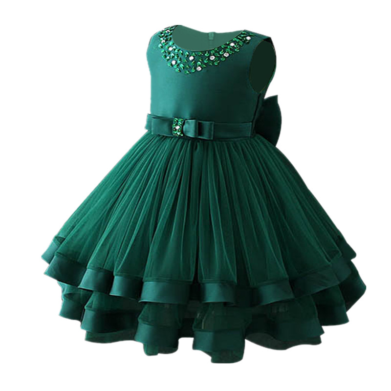 Baby Girls Party Dress 2018 Elegant Girl Evening Dress For Wedding Birthday Kids Dresses For 2 to 10 yeas Girls Clothes цена