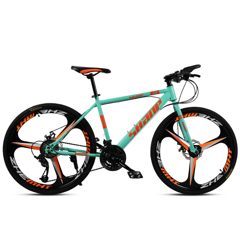 Adult Bike Mountain Bike 26 Inches 27 Speed TEN Knife Wheel Dual Disc Brake Integrated Wheel Cross-country Variable Speed Bicycl