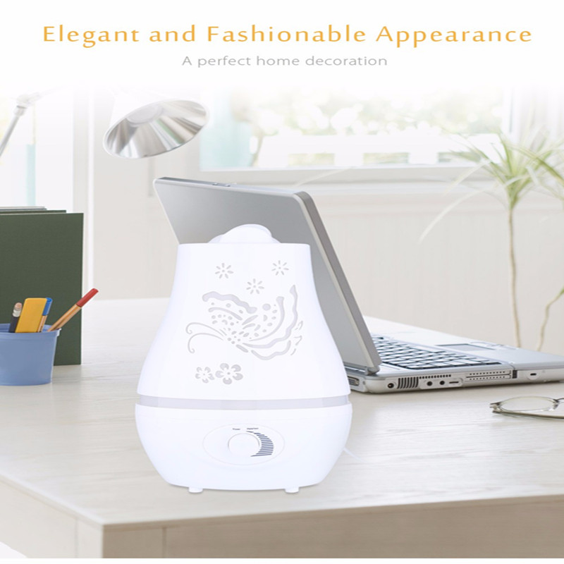 INVITOP 2.4L Household Ultrasonic Humidifier Essential Oil Diffuser LED Light Air Humidifier Purifier Home Decor Double Sprayer Humidifiers     - title=