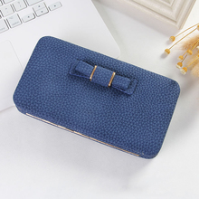 Purse Bow Wallet Female Big Capacity Card Holders Cellphone Pocket PU Leather Wo