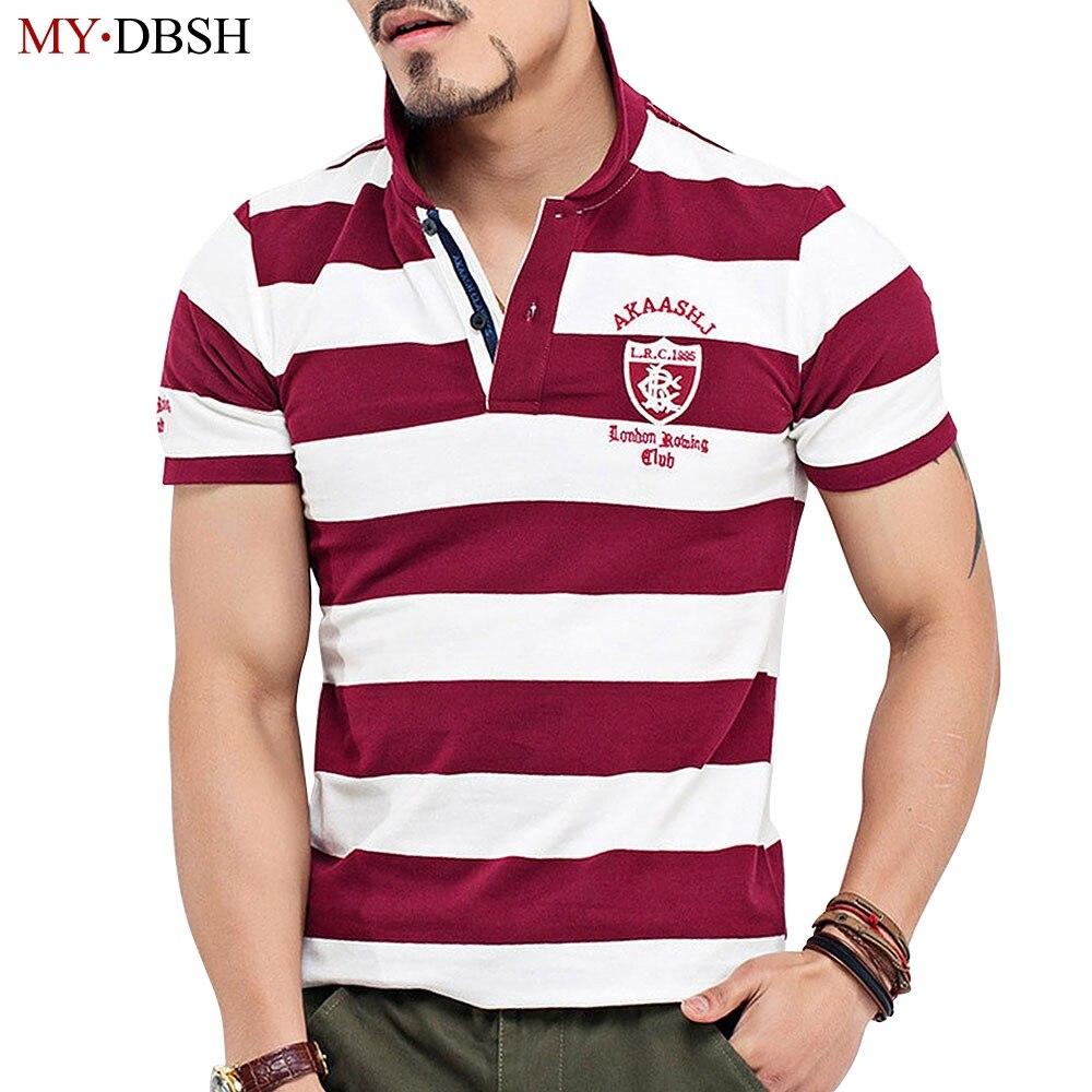 Mens Polo Shirt Men Camisa Masculina Mens Striped Polo Men Polo