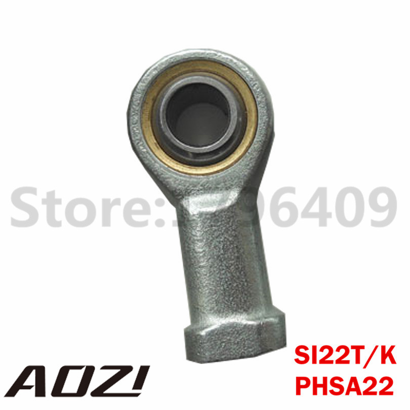 SI22T/K PHSA22 New Female Metric Threaded Rod End Joint Bearing Free Shipping 1pc female metric spherical plain threaded rod end joint bearing phsa30 si30t k30mm left hand lh l shipping high quality