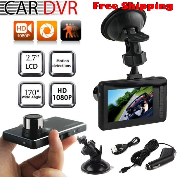 2017 2.7 Full HD 1080P Car Vehicle Vision Video Recorder Dash Cam G-sensor Black Hdmi Dvr Camcorders BLACK BOX Night