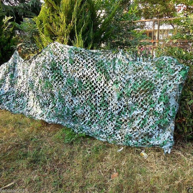 Large Size Military Jungle Digital Camouflage Net Sun Shade Cloth Outdoor Hunting Hide Cover Camping CS Camo Indoor Adornment
