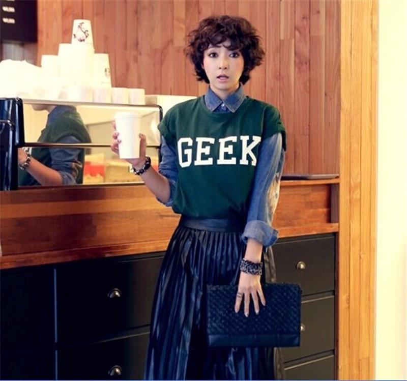 HTB17JvUKXXXXXXyXVXXq6xXFXXXl - Summer Style Geek Letter Print T Shirt Women