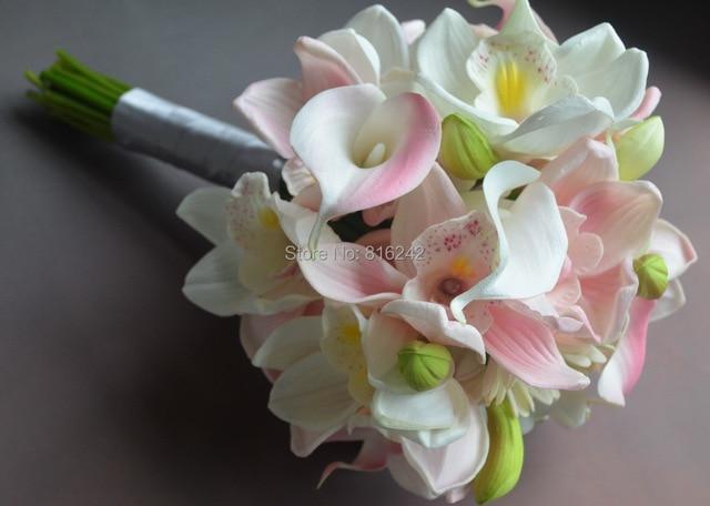 Real touch flowers sweet white pink cymbidium orchids calla lily real touch flowers sweet white pink cymbidium orchids calla lily gerbera daisy wedding mightylinksfo