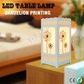 Patrón de diente de león Blanco Marfil LED Lámpara de Mesa, Interior moderno Mesita de Noche Dormitorio Decoración de La Lámpara de Escritorio, Abajur