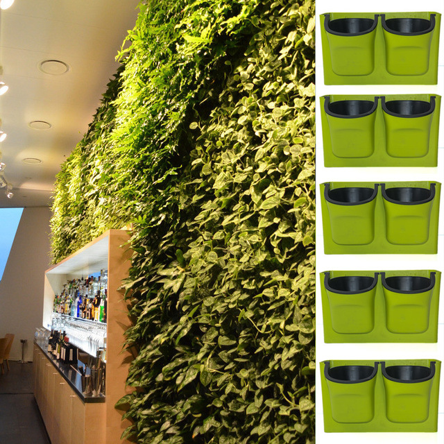 Hanging Plant Pots Wall Pots Vertical Garden Flower Pots Planter Hanging  Seeding Pots Planter Indoor Outdoor